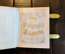 Load image into Gallery viewer, beautiful empty 1860s leather photo album - excellent antique condition!