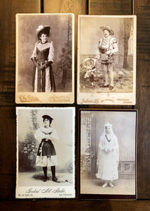 San Francisco Photographers Antique Photo Lot Unusual Interesting Fashions 1800s