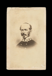 Civil War CDV Photo CSA Confederate General Joseph Johnston / Partial Tax Stamp
