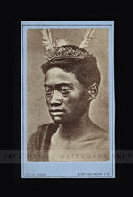 Load image into Gallery viewer, RARE Antique 1800s Photo Young Maori New Zealand Photographer De Maus / Tattoos