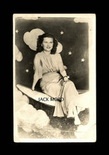 Load image into Gallery viewer, Rare RPPC Photo - Woman with Hands & Feet Deformity - Sitting on Prop Moon