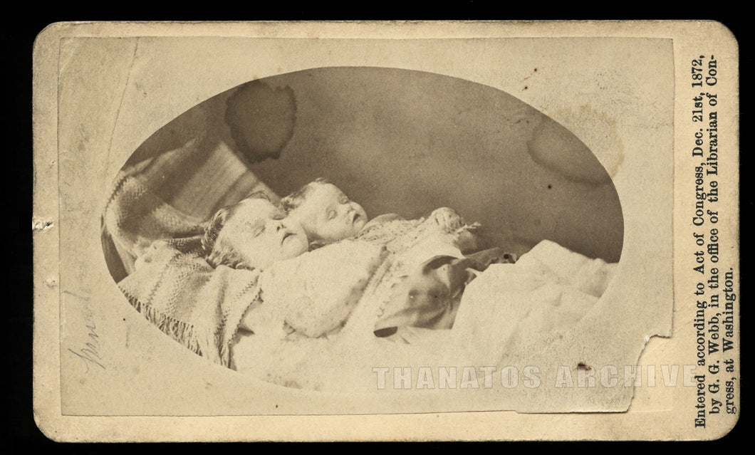 Double Post Mortem CDV Photo / Sisters Murdered by Father in 1872