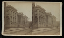 Load image into Gallery viewer, TWO Antique Stereoview Photos Interesting New York Street / Architectural Scenes