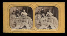 Load image into Gallery viewer, Very Rare Erotic Tissue Stereoview - Nude French Women! Antique 3D Photo