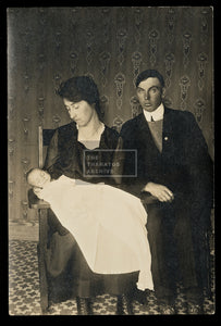 Poignant Image - Young Couple with Deceased Baby / Post Mortem Photography