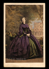 Load image into Gallery viewer, Beautiful Princess of Prussia Tinted Purple Dress 1860s Royalty CDV Photo Rare
