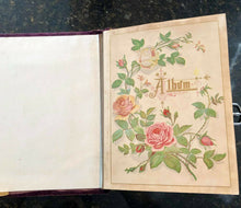 Load image into Gallery viewer, Our Friends - Purple Velvet Album with Letter & Photos, 1800s