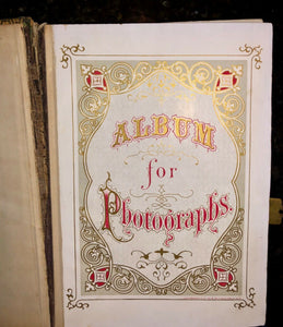 Antique 1860s album with a few names soldier and child actress