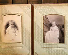 Load image into Gallery viewer, antique photo album cool gothic spider web design cabinet and cdv