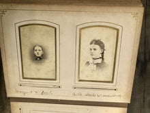 Load image into Gallery viewer, Nice Leather Album Many ID'd People Iowa Minnesota New York CDV Cabinet Photos
