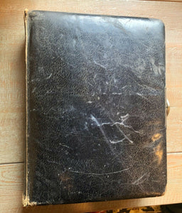 Victorian Era Antique Black Leather Photo Album Nice Quality 1800s Scrapbook 8A