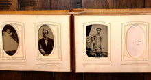 Load image into Gallery viewer, Antique album 1860s 1870s tintypes and CDV photos