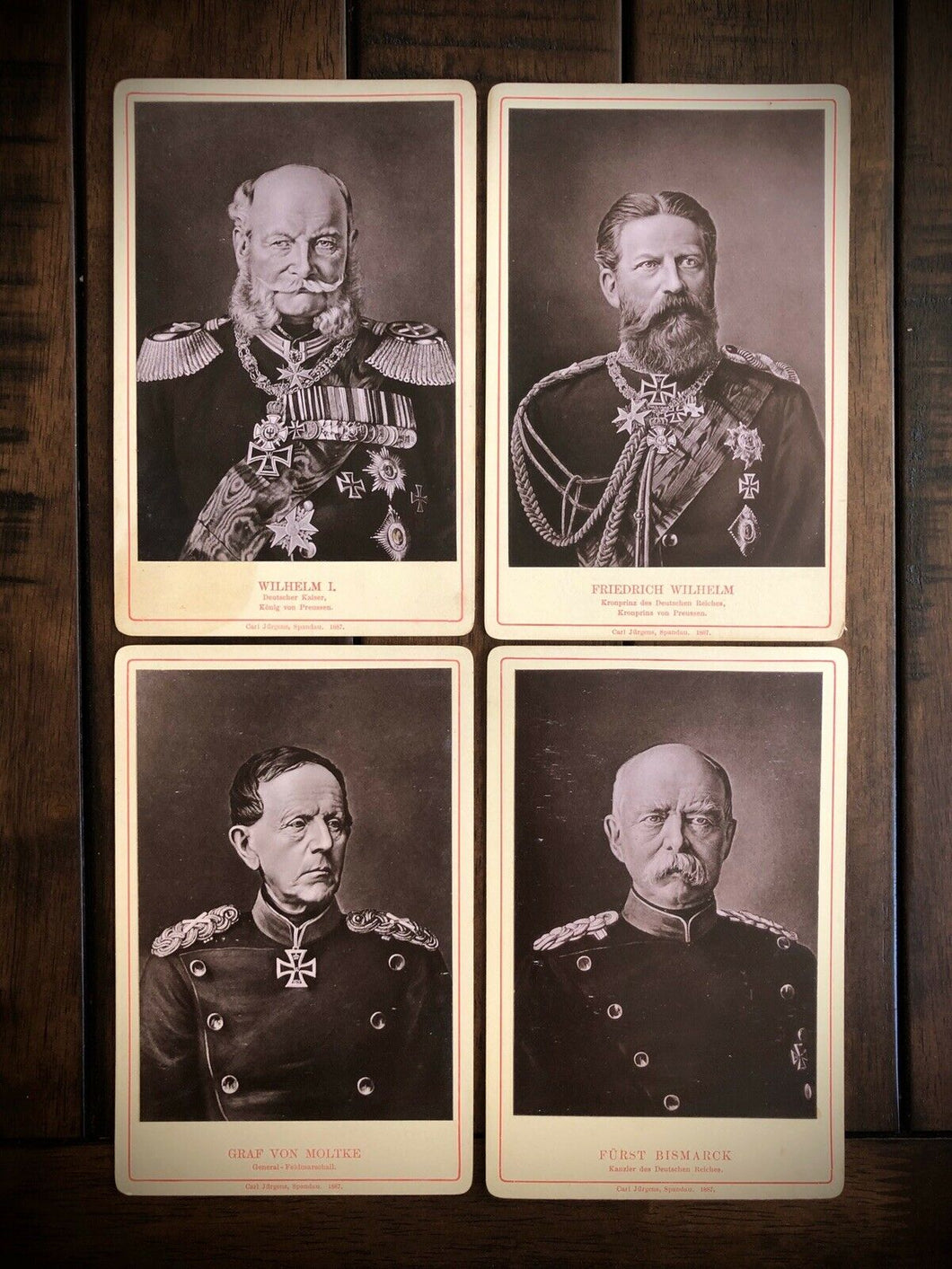 Lot of Antique 1800s German Political Royalty Military Figures 1887