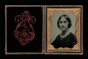 1/4 1850s Ambrotype of a Woman with a Great Face!