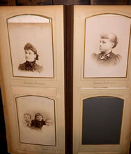 Load image into Gallery viewer, FOUR large oblong antique victorian photo albums some kansas many ids genealogy