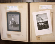 Load image into Gallery viewer, Antique Photo Album Fogg Hill Dutton - Tintype Cabinet Card Post Mortem Many IDs