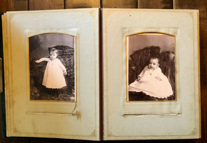 Antique Velvet Photo Album & Philadelphia Cabinet Cards