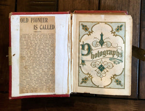 Antique Photo Album, Tintypes, CDV, Obituary, Brooklyn New York Iowa
