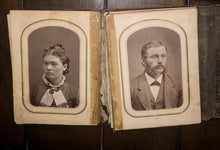Load image into Gallery viewer, 1860s 1870s Photo Album CDVs & Tintypes Including Civil War Soldier