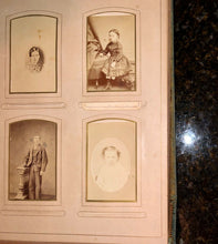 Load image into Gallery viewer, antique Victorian album cabinet cards cdvs tintype mourning / memorial widow