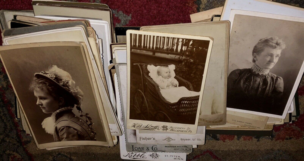 Big Lot of 216 Cabinet Cards