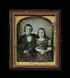 1840s 1/6 Daguerreotype / Protective Big Brother & Little Sister