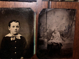 Antique / 1800s Tintype Photo Lot - All Children Boys And Girls 1870s - 1890s