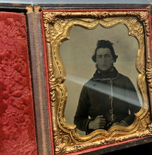 Load image into Gallery viewer, 1860s Tintype Photo - Man In Great Hunting Or Military Jacket, Neff's Patent