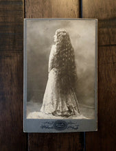 Load image into Gallery viewer, ID'd Woman Super Long Hair Back To Camera 1890s - Lowell Massachusetts