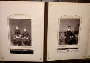 Album with Many Nice Cabinet Cards CDVs civil war tax stamps Philadelphia