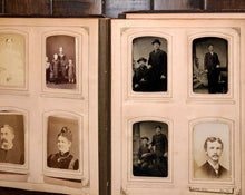 Load image into Gallery viewer, Victorian photo album cabinet cards tintypes CDV Pennsylvania