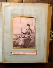 Load image into Gallery viewer, Antique photo album mourning widow Cabinet Cards tintype CDV