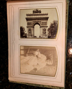 antique Victorian album cabinet cards cdvs tintype mourning / memorial widow
