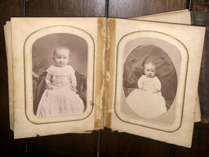 1860s 1870s Photo Album CDVs & Tintypes Including Civil War Soldier