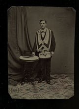 Load image into Gallery viewer, Tintype Photo Young Freemason FREDONIA COUNCIL Frederick Maryland