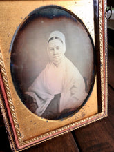 Load image into Gallery viewer, 1/4 daguerreotype quaker woman - is it the minister & author eliza gurney?