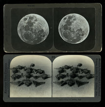Load image into Gallery viewer, 2 Antique 1800s Photos Bats & Full Moon Halloween Delight! Witch / Creepy Int