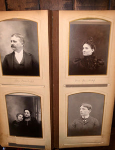FOUR large oblong antique victorian photo albums some kansas many ids genealogy