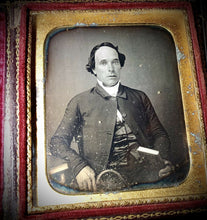 Load image into Gallery viewer, Scholarly Man with Books Walking Cane? Wisconsin Estate, Sealed Daguerreotype
