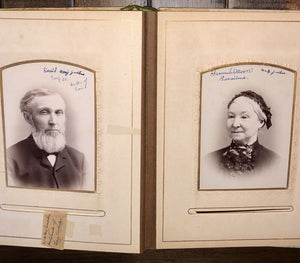 Antique Photo Album Fogg Hill Dutton - Tintype Cabinet Card Post Mortem Many IDs
