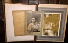Load image into Gallery viewer, Album with Many Nice Cabinet Cards CDVs civil war tax stamps Philadelphia
