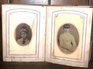 Tintype Photo Album from Tennessee Estate 1860s 1870s