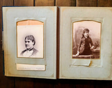 Load image into Gallery viewer, Antique Velvet Photo Album & Philadelphia Cabinet Cards