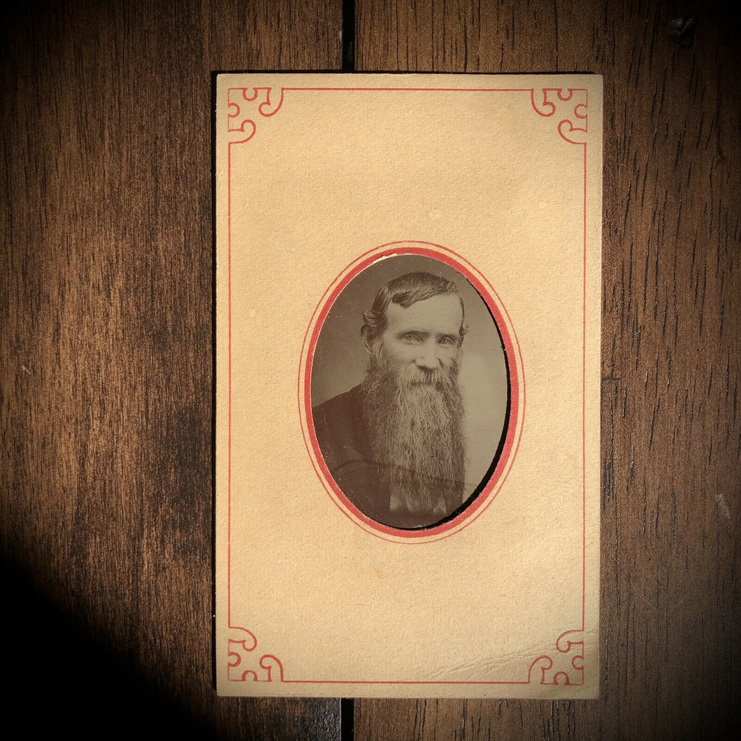 Tintype of IDd Man w Epic Beard Brother Of Civil War General Thomas Gallagher