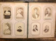Load image into Gallery viewer, HQ 1860s Photo Album 104 CDVS Tintypes Dogs Hidden Mother Civil War Soldier Many ID