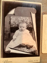 Load image into Gallery viewer, Post Mortem & Memorial Photo Set - Same Child or Siblings New Hampshire 1890s