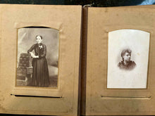 Load image into Gallery viewer, Velvet Album CDVs Cabinet Cards & Tintypes Antique