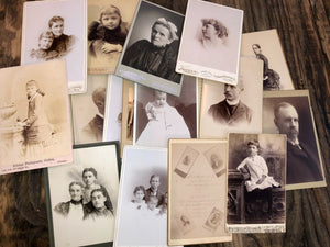 1.5+ LB of 1800s Victorian Cabinet Card Photos Free Priority Mail Shipping