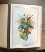 Load image into Gallery viewer, Victorian Era Antique Black Leather Photo Album Nice Quality 1800s Scrapbook 8A