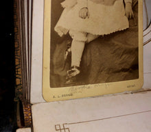Load image into Gallery viewer, Antique 1860s album with a few names soldier and child actress